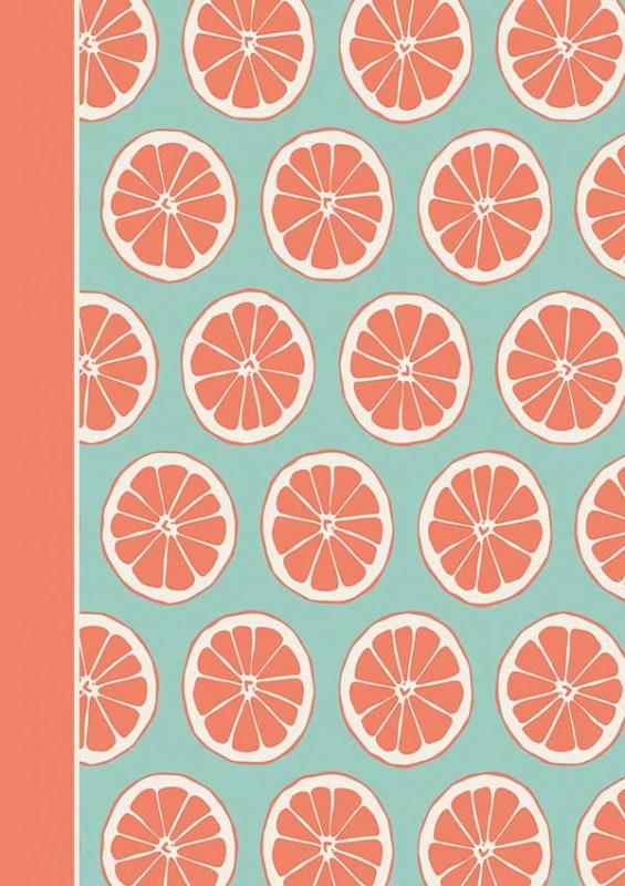 Orange Slice Cover: Customizable Journal, Planner or Notebook with Dot Border