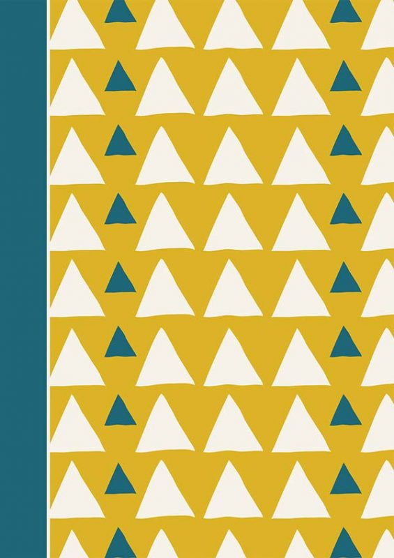 Triangles Cover: Customizable Journal with Dot Border