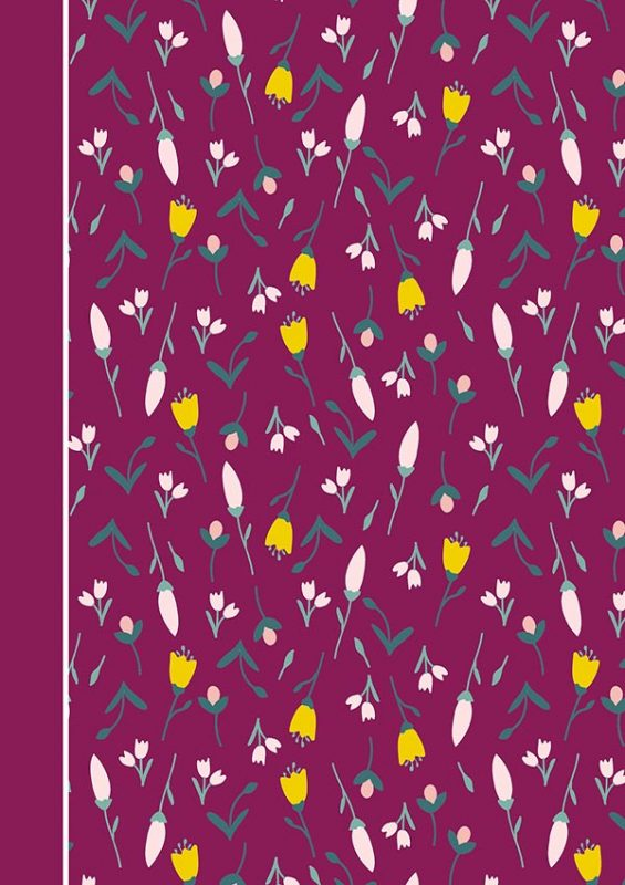 Magenta Flower Cover: Customizable Journal, Planner or Notebook with Dot Border